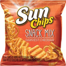 frito lay sun chips harvest cheddar snack mix food service