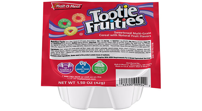 Small Bowl Tootie Fruities Cereal